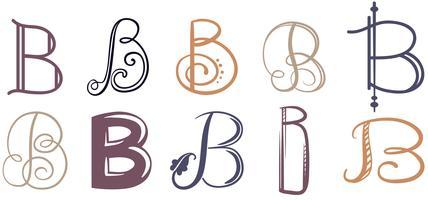 B Letras Vectores