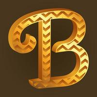 letter B Typography Background