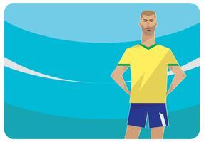 Um vetor de personagem de futebol brasileiro