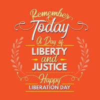 Liberation Day Quote Background