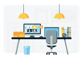 Illustration de station de travail Vector Designer