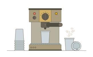 Koffie machine vector