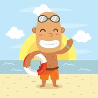 Male Lifeguard Vector