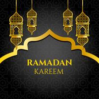 Vecteur d'or ramadan kareem