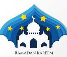 Ramadan Kareem Vector de felicitación