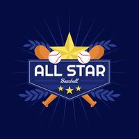Baseball All Star Vector Badge