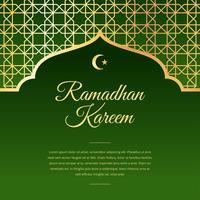 ramadan saudação verde vector