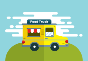 Vetor de caminhão de comida