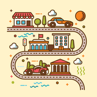 Road Map Illustration