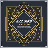 art deco label vector