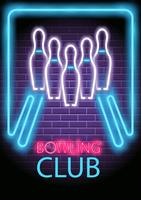 Neon Bowling vector