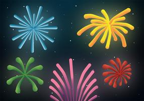 Pack de vecteur de feux d'artifice