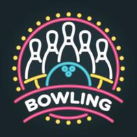 neon bowling vektor illustration