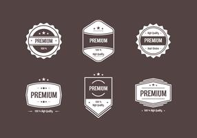 Flat Vintage Labels Brown Background Vector