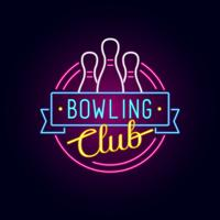 Neon Bowling Sign vector