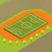 Flat Isometric Soccer Vector Illustration