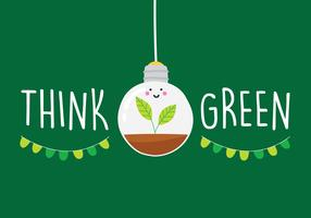 Cartel de la campaña Think Green