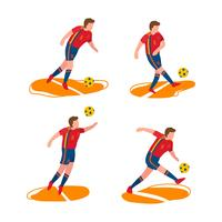 Spanish Soccer Characters Vector