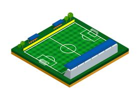 Football Field Isometric Vector