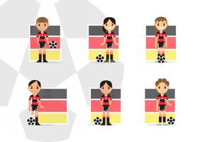Female German Soccer Characters Players Pack