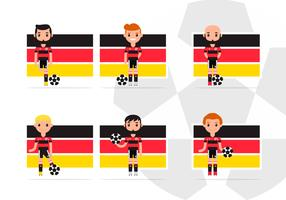 Pack de personnages de football allemand masculin