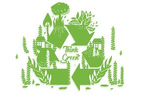 Think Green Poster Vector