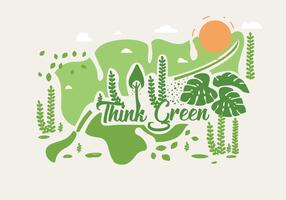 Think Green Poster Vol 2 Vector