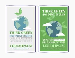 Vector Think Green Posters