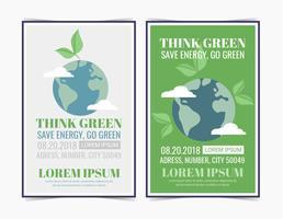 Vector Denk groene posters