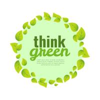 Think Green Poster Background vector