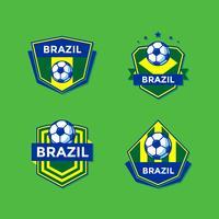 Vector de parches de fútbol brasileño