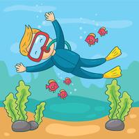 Dykning Vector