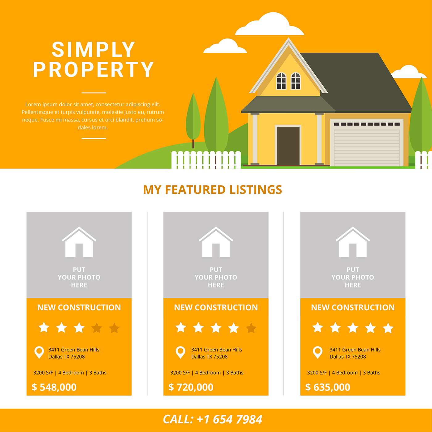 real estate listing template download free vector art stock graphics images