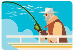 fiskare vektor