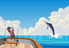 Pesca em alto mar vetor