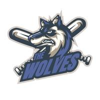 Baseball Wolves vector