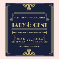1920'S Wedding Invitation Vector