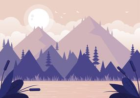 Vektor-Natur-Landschaftsillustration