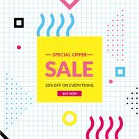 Oferta especial de vector Diseño de etiqueta de venta