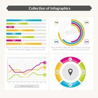 Diseño de plantilla de vector infografía