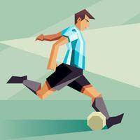 Argentina Soccer Players Vector Illustration