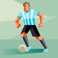 Illustration vectorielle de joueurs de football Argentine
