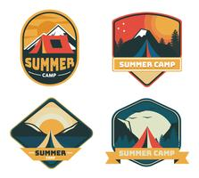 Summer Camp Patch Pack de vectores