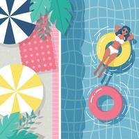 Vector de piscina vintage