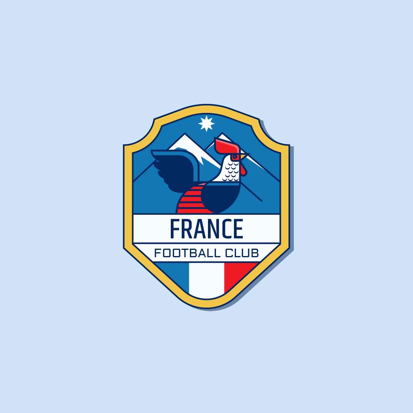 Französischer Fußball-Abzeichen-Vektor - Kostenlose Vektor-Kunst ...