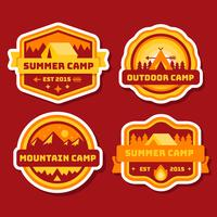 collection de patch de camping