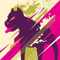 abstract dog vector