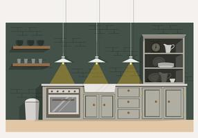 Vector Modern Kitchen Illustration
