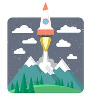 Rocket Launch Illustration