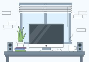Vector Designer Desktop Illustration